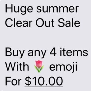 Buy any 4 items with 🌷emoji for $10.00